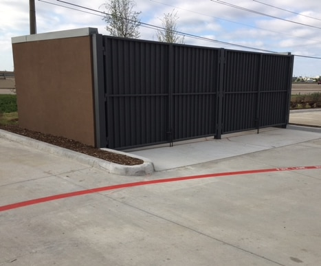 Concrete Dumpster Pad Commercial Job